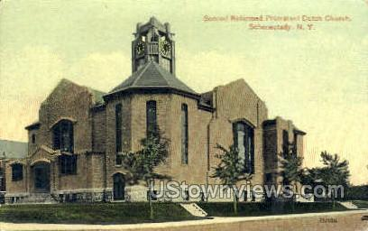 Second Reformed Dutch Church - Schenectady, New York NY Postcard