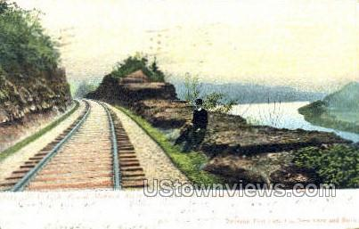 NYC RR & Mohawk River - Schenectady, New York NY Postcard
