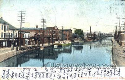 Dock Street - Schenectady, New York NY Postcard