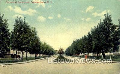 Parkwood Blvd. - Schenectady, New York NY Postcard