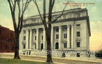 Schenectady County Court House - New York NY Postcard