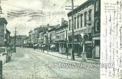 Lower State Street - Schenectady, New York NY Postcard