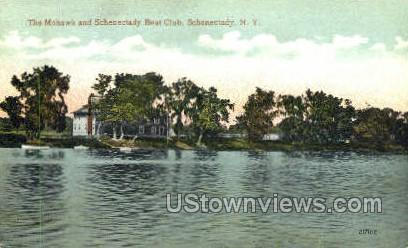 Schenectady Boat Club - New York NY Postcard