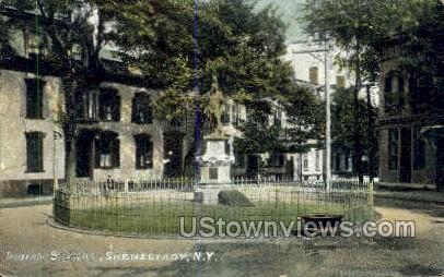 Indian Statue - Schenectady, New York NY Postcard