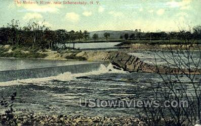 The Mohawk River - Schenectady, New York NY Postcard