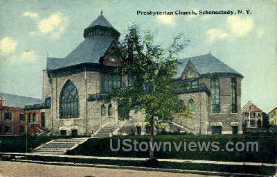 Presbyterian Church - Schenectady, New York NY Postcard