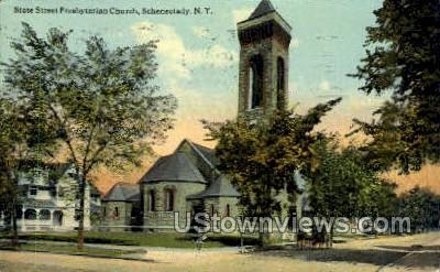 State Street Presbyterian Church - Schenectady, New York NY Postcard