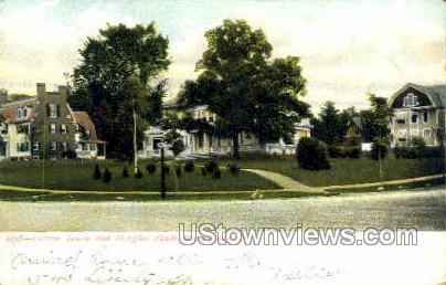Corner Lenox & Douglas Roads - Schenectady, New York NY Postcard