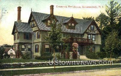 Emmons Residence - Schenectady, New York NY Postcard