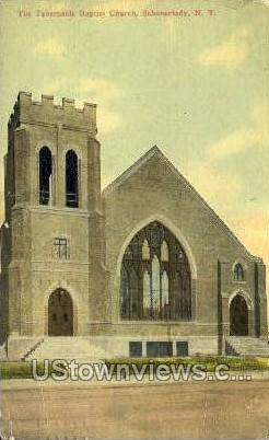 Tabernacle Baptist Church - Schenectady, New York NY Postcard