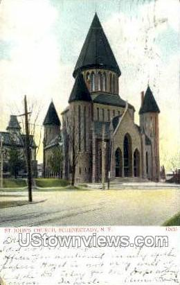 St. John's Church - Schenectady, New York NY Postcard
