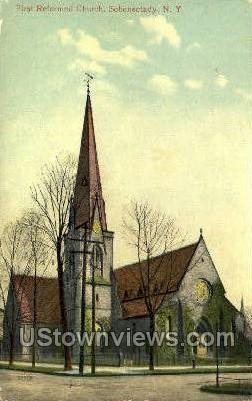 First Reformed Church - Schenectady, New York NY Postcard