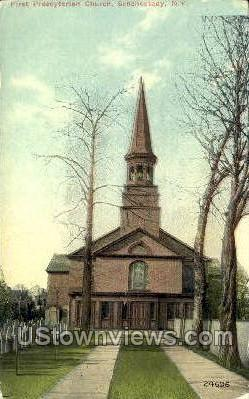 First Presbyterian Church - Schenectady, New York NY Postcard