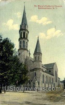 St. Mary's Circle - Schenectady, New York NY Postcard