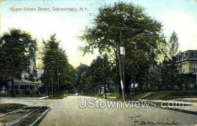 Upper Union Street - Schenectady, New York NY Postcard