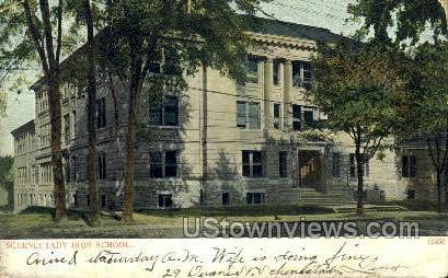 Schenectady High School - New York NY Postcard