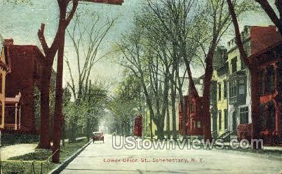 Lower Union St. - Schenectady, New York NY Postcard