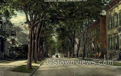 Washington Ave. - Schenectady, New York NY Postcard