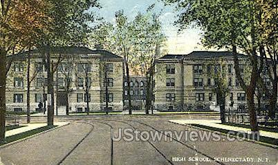 High School, Schenectady - New York NY Postcard
