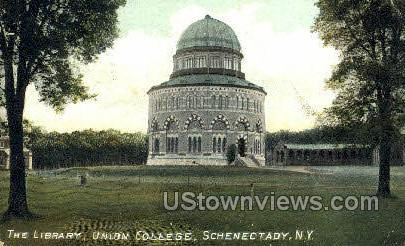 The Library, Union College - Schenectady, New York NY Postcard