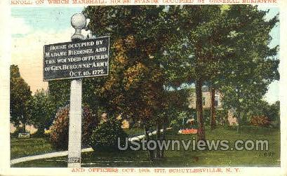 Knoll on Which Marshall House - Schuylerville, New York NY Postcard