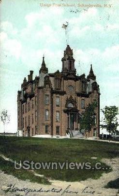 Union Free School - Schuylerville, New York NY Postcard