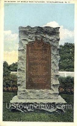 In Memory of World War Veterans - Schuylerville, New York NY Postcard