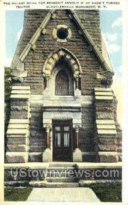 Vacant Niche for Benedict Arnold - Schuylerville, New York NY Postcard