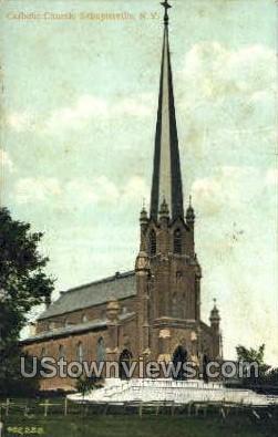 Catholic Church - Schuylerville, New York NY Postcard