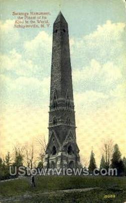 Saratoga Monument - Schuylerville, New York NY Postcard