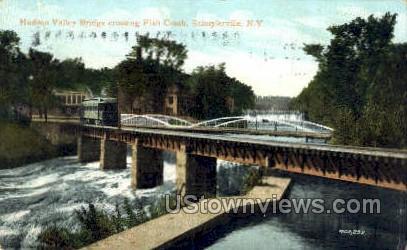Hudson Valley Bridge - Schuylerville, New York NY Postcard