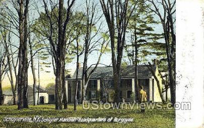 Schuyler Mansion - Schuylerville, New York NY Postcard