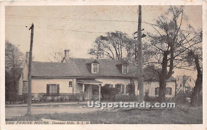 Perine House - Staten Island, New York NY Postcard