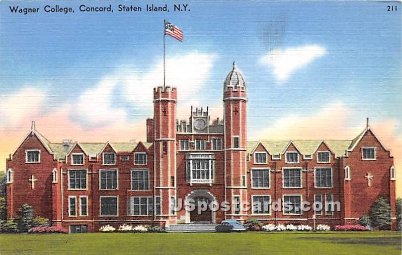 Wagner College, Concord - Staten Island, New York NY Postcard