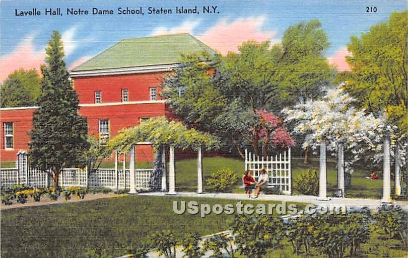 Lavelle Hall, Notre Dam School - Staten Island, New York NY Postcard