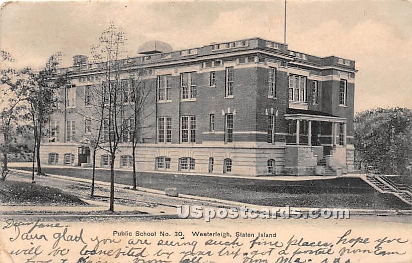 Public School No 30 - Staten Island, New York NY Postcard