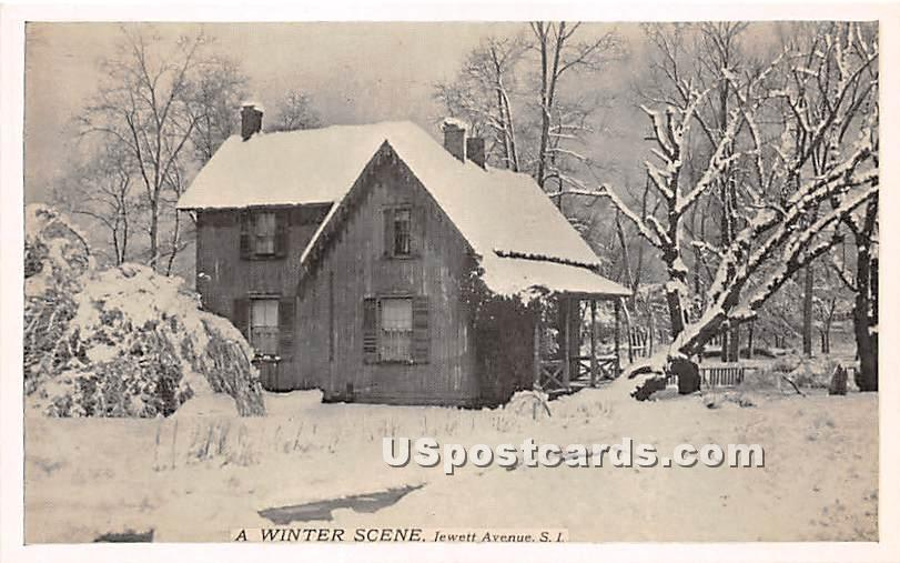 Jewett Avenue - Staten Island, New York NY Postcard