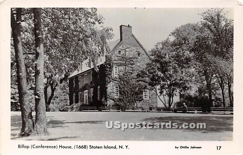 3Billop Conference House 1668 - Staten Island, New York NY Postcard