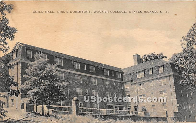 Guild Hall, Girls Dormitory, Wagner College - Staten Island, New York NY Postcard