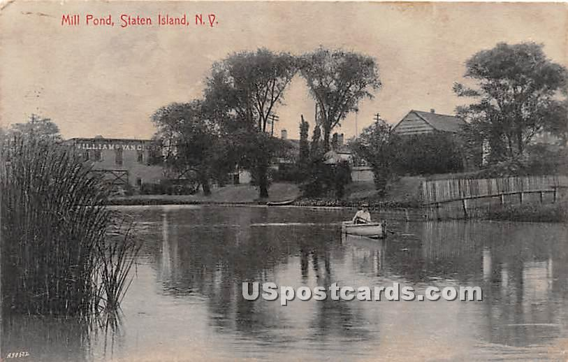 Mill Pond - Staten Island, New York NY Postcard