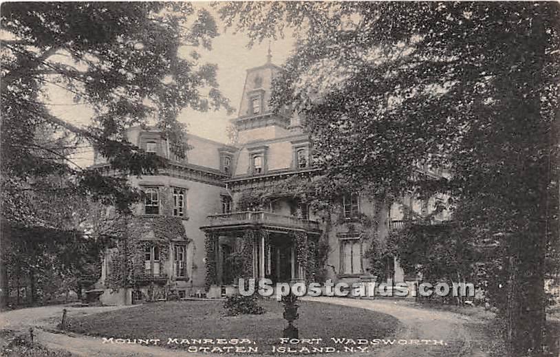 Mount Manresa, Fort Wadsworth - Staten Island, New York NY Postcard