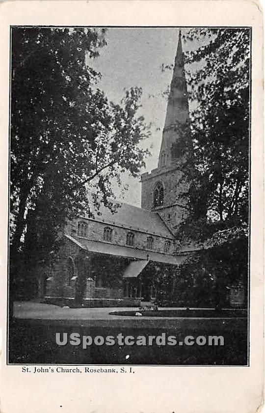 St John's Church, Rosebank - Staten Island, New York NY Postcard