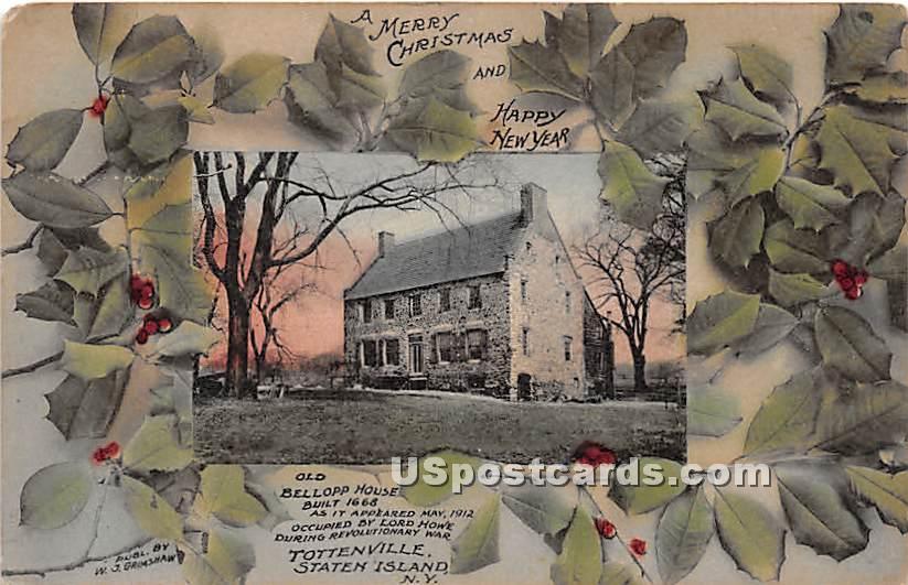 Old Bellopp House 1668 - Staten Island, New York NY Postcard