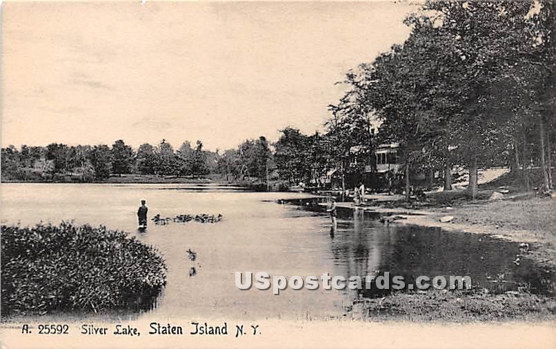 Silver Lake - Staten Island, New York NY Postcard
