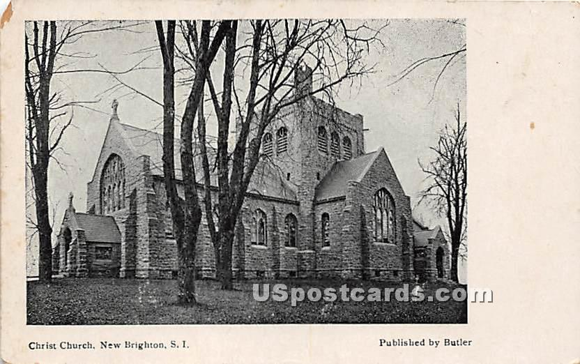 Christ Church, New Brighton - Staten Island, New York NY Postcard