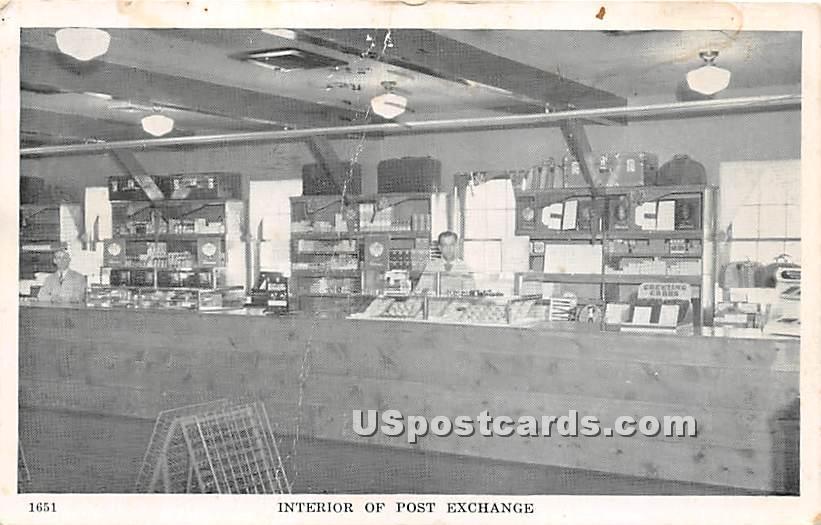 Interior of Post Exchange - Staten Island, New York NY Postcard