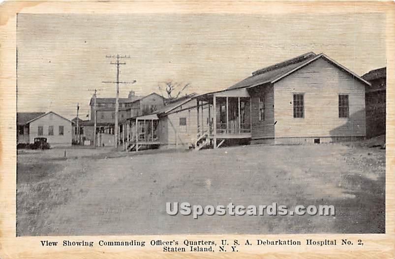 Commanding Officer's Quarters - Staten Island, New York NY Postcard