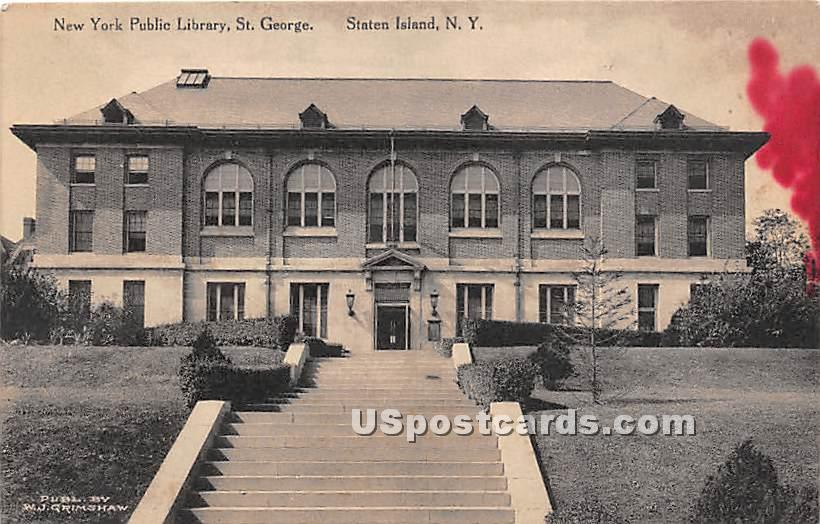 New York Public Library, St George - Staten Island Postcard