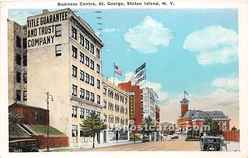 Business Centre, St George - Staten Island, New York NY Postcard
