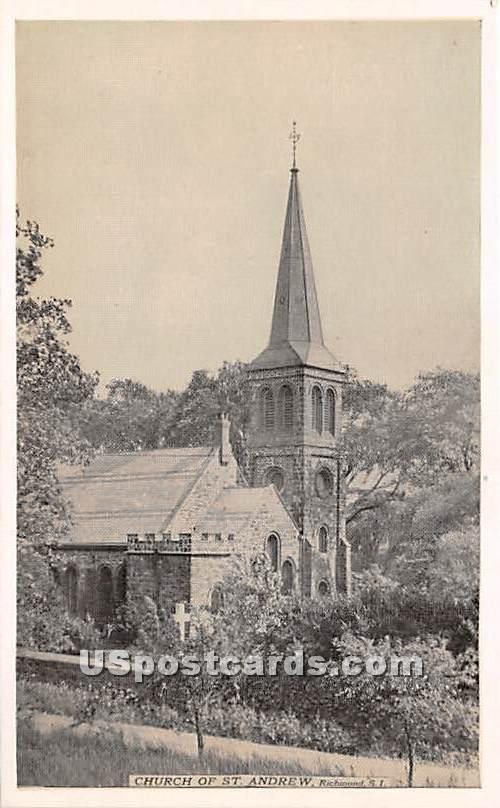 Church of St Andrew - Staten Island, New York NY Postcard